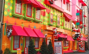 Painet iw0394 japan honshu kansai osaka chuo ward love hotel little chapel christmas area buildings burghal center central
